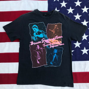 "Bruce Springsteen "" Tunnel Of Love Express Tour "" LA Sports Arena 1988 RARE USA Original Vintage Rock T-Shirt"
