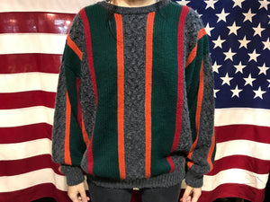 Jed Wear Vintage 90's Crew Stripe & Cable Knit