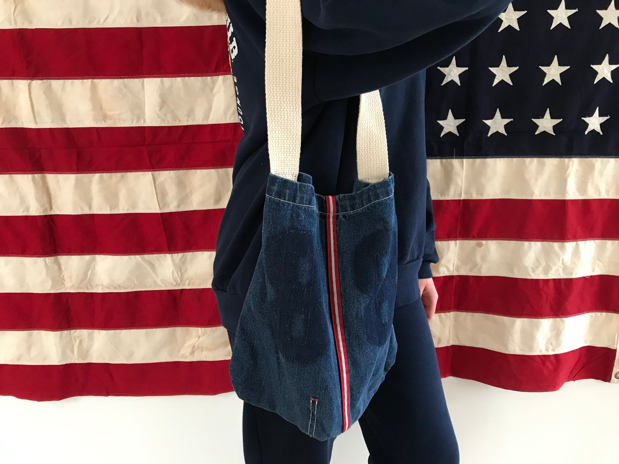 Denim Tote Bag Made in USA