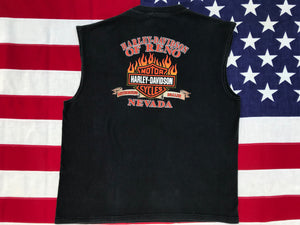 Harley Davidson Vintage 2000's  Mens Tank - Reno, Nevada. Made in USA