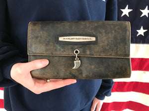 Harley Davidson 90's Vintage Leather Wallet