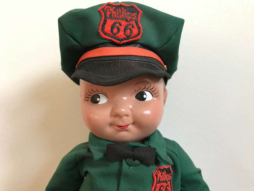"Phillips 66 "" Lil Phil "" 90's Station Attendant Rare Collector Doll Phil - No 2 Series by Ames Doll Co , Inc USA"