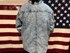 Levis Denim Mens Vintage 80's Acid Wash Sherpa Jacket Made in USA