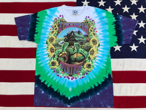 "Grateful Dead ©️1999 G.D.P, Inc. "" Terrapin Station "" Original Vintage Rock Tie Dye T-Shirt by Liquid Blue USA"