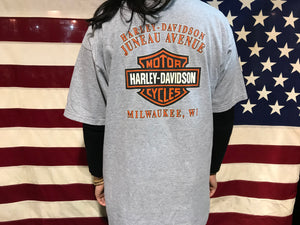 Harley Davidson Vintage Mens T-Shirt Print Year 2006 Milwaukee Made in USA