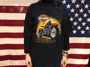 Harley Davidson Vintage Mens T-Shirt Print Year 2006 Indiana Made In USA