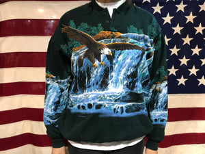 Eagle Animal Print 90's Vintage Sweat by Art Unlimited for National Wildlife Federation USA