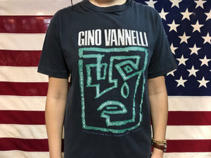Gino Vannelli Inconsolable Man USA Tour 1991 Vintage Rock T-Shirt