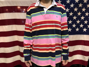 Polo by Ralph Lauren Vintage 90's Multi Stripe Long Sleeve Polo
