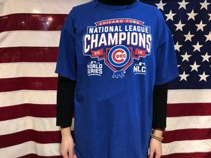 Chicago Cubs Vintage 2016 NLCS World Series Crew T-Shirt
