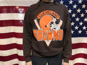 Cleveland Browns 90's Vintage Crew Sporting Sweat by Trench USA Made in USA