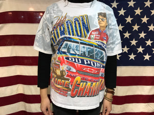 Nascar 90's Vintage T-Shirt Winston Cup Series Jeff Gordon by Chase Authentics Made in USA