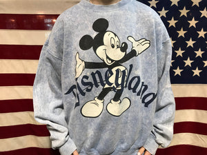Mickey Mouse Disneyland 90's Vintage Walt Disney Co Crew Sweat By Mickey Inc Made In USA