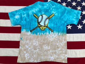 "Grateful Dead  "" 1996 Skeleton Baseball GD Player "" Original Vintage Rock Tie Dye T-Shirt by Anvil Made in USA"