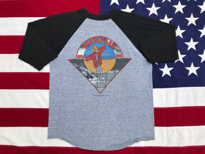 "John Cougar Mellencamp "" Scarecrow Tour '85 - '86 "" Original Vintage Rock 3/4 Raglan Sleeve T-Shirt By Signal Made in USA"