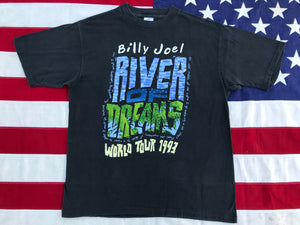"Billy Joel "" River Of Dreams World Tour 1993 "" Original Vintage Rock T- Shirt Made in USA by Murina USA"