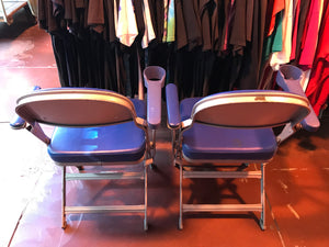 Clarin Boxx Seats®️1960's/70's Pair of Vintage American UCLA Folding Chairs Made in USA