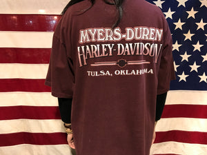 Harley Davidson Vintage Mens T-Shirt 1997 Tulsa Oklahoma Made in USA