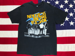 New Kids On The Block - ©️1989 Big Step Productions, Inc Original Vintage Rock T-Shirt By Hanes Made in USA