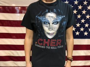 Cher Dressed To Kill USA Tour 2014 Original Vintage Rock T-Shirt by Delta