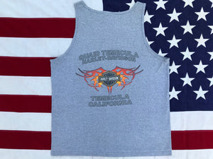Harley Davidson Vintage 2000's Mens Tank - Temecula, California. Made in  USA
