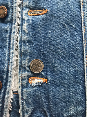 Wrangler Sherpa Lined Vintage Denim Jacket