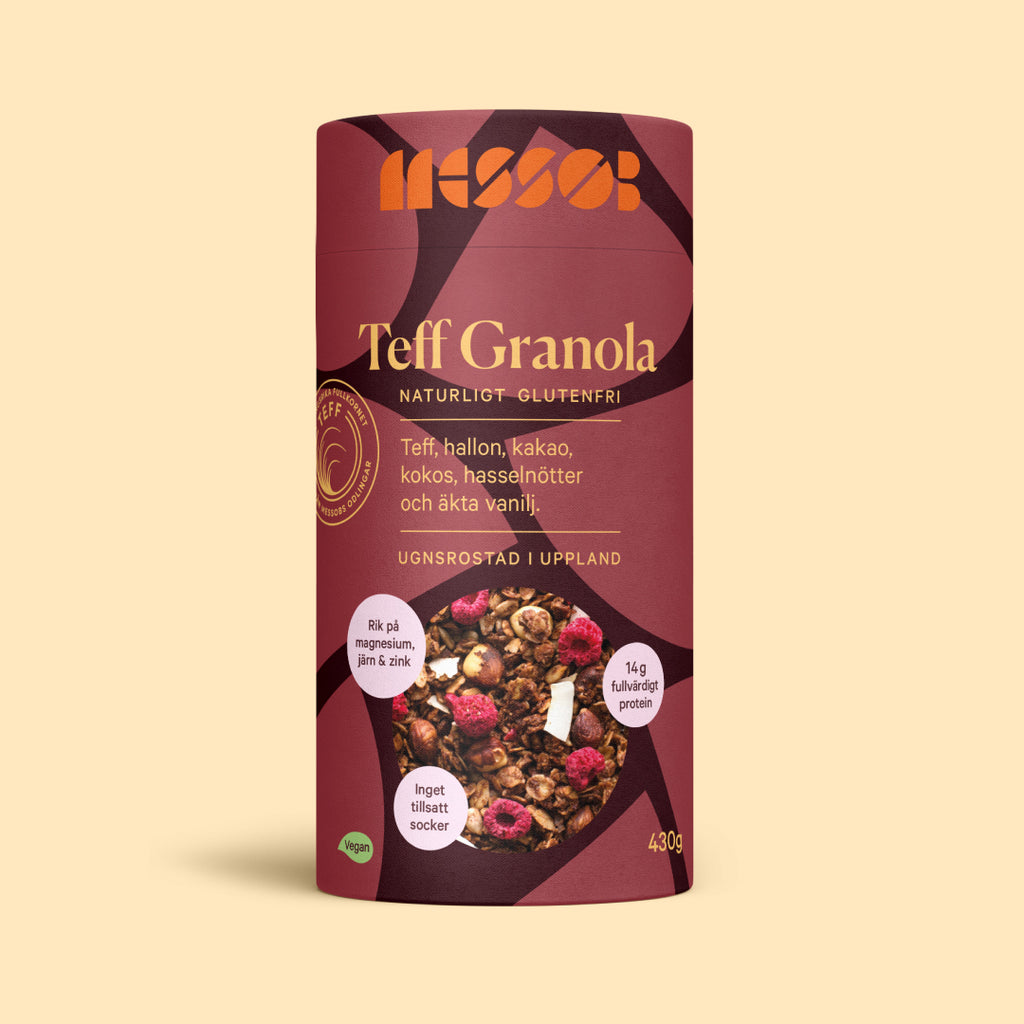 Teff Granola - Chocolate & Raspberries - Messob