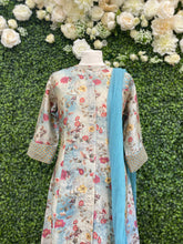 Load image into Gallery viewer, Blue floral kurta