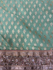 Green cotton silk