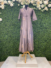 Load image into Gallery viewer, Dark mauve kimono dress