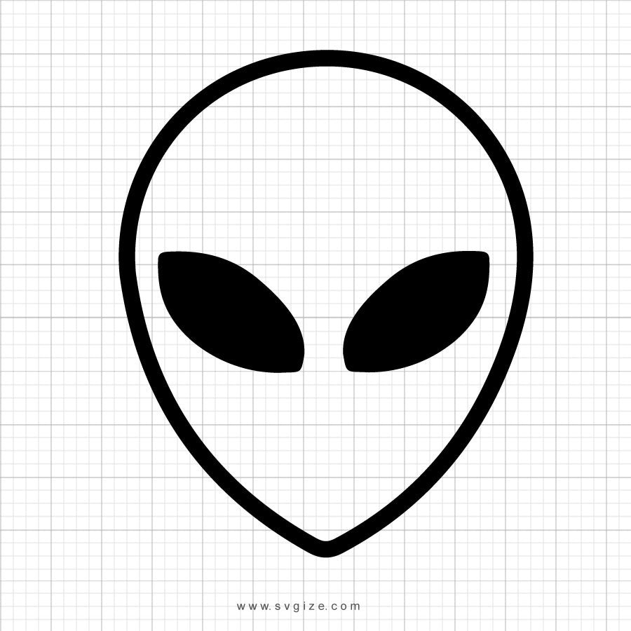 Alien Face Svg Clipart - svgize