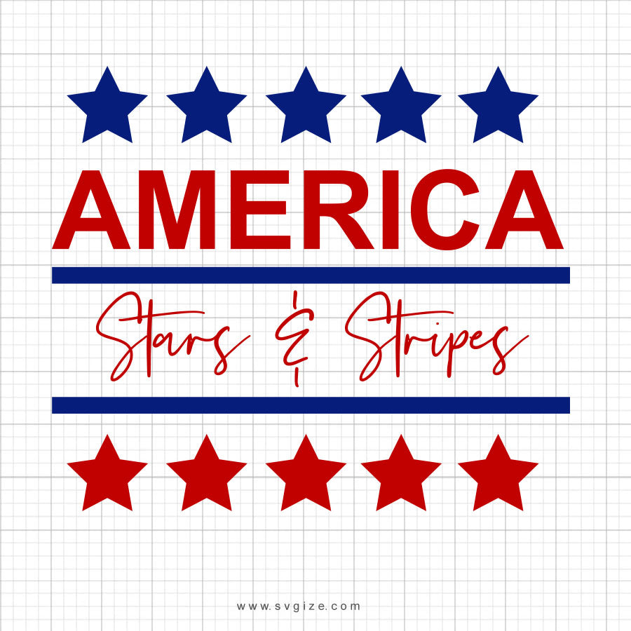 America Stars And Stripes Svg Saying