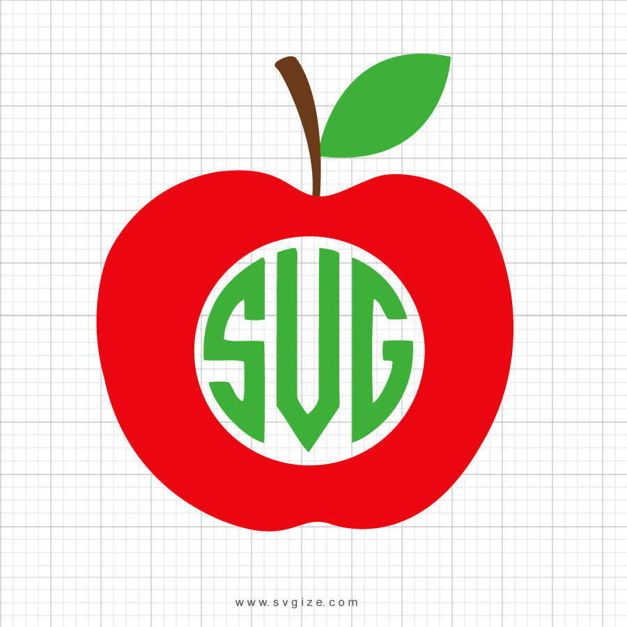 Apple Monogram SVG Clipart - svgize