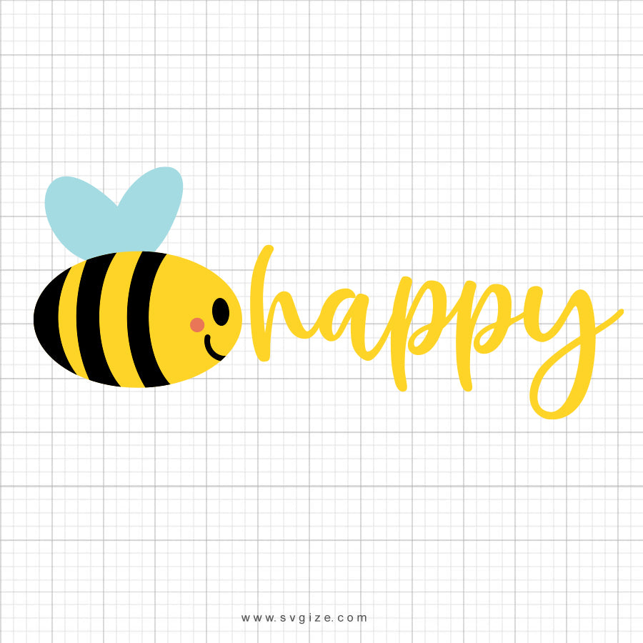 Bee Happy SVG Saying