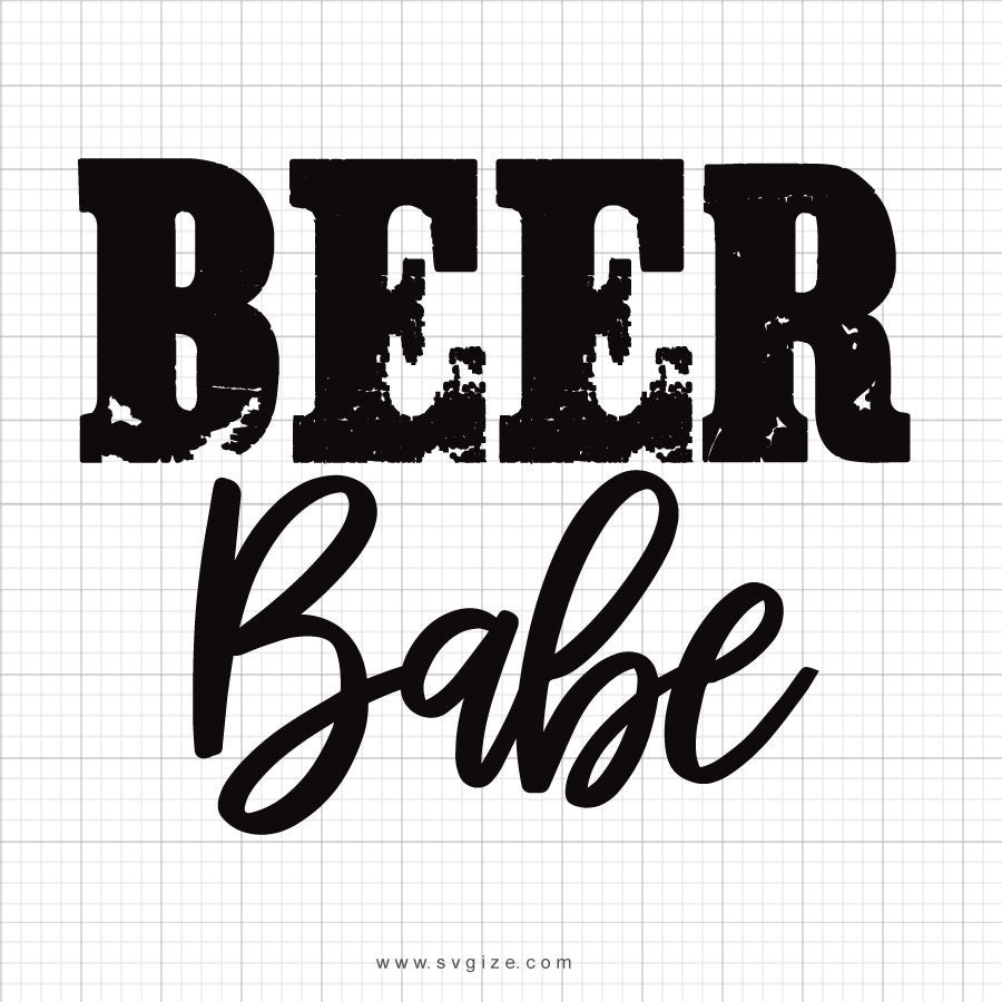 Beer Babe Svg Saying