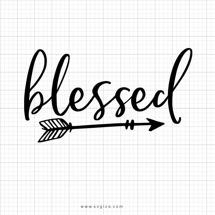 Blessed Arrow Svg Saying - SVGize