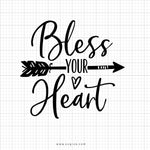 Bless Your Heart Svg Saying - svgize