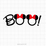 Boo Minnie Mouse Head Svg Clipart