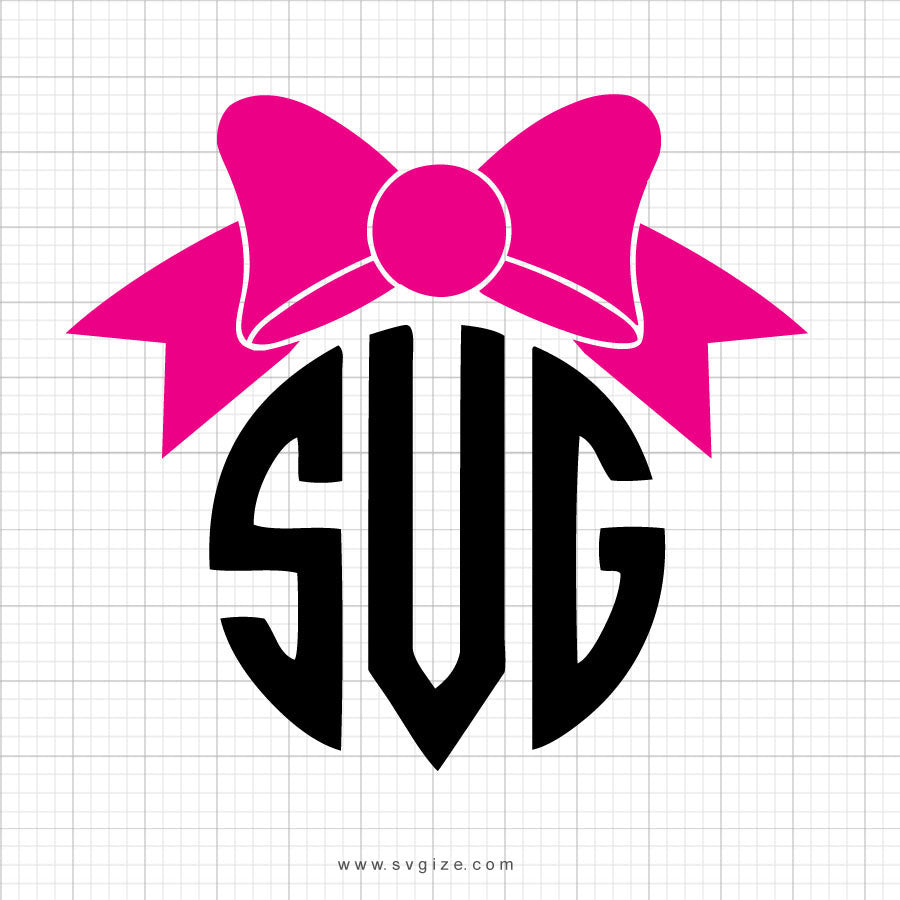 Bow Monogram Svg Clipart - svgize