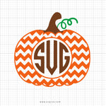 Chevron Monogram Pumpkin Svg Clipart - SVGize