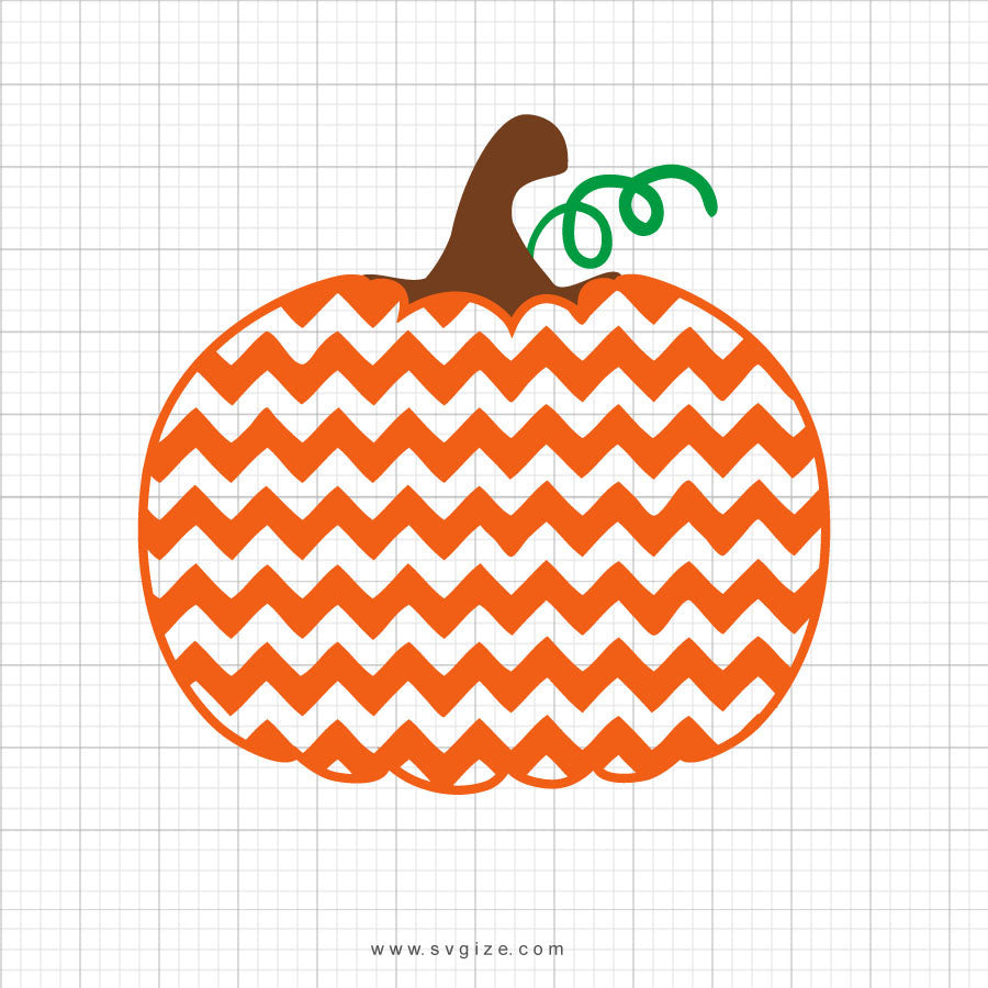 Chevron Pumpkin Svg Clipart