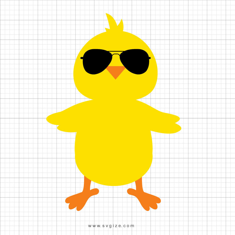 Chick With Sunglasses Svg Clipart