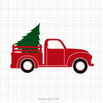Christmas Truck Svg Clipart