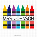 Crayons Monogram Svg Clipart - svgize
