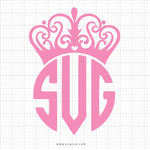 Crown Tiara Monogram Svg Clipart - svgize