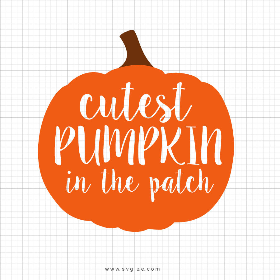 Cutest Pumpkin In The Patch Halloweenn Svg Clip Art - SVGize