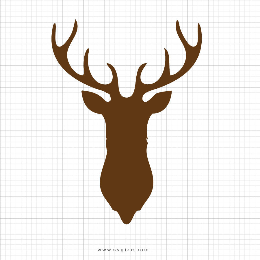 Deer Head Svg Clipart - svgize