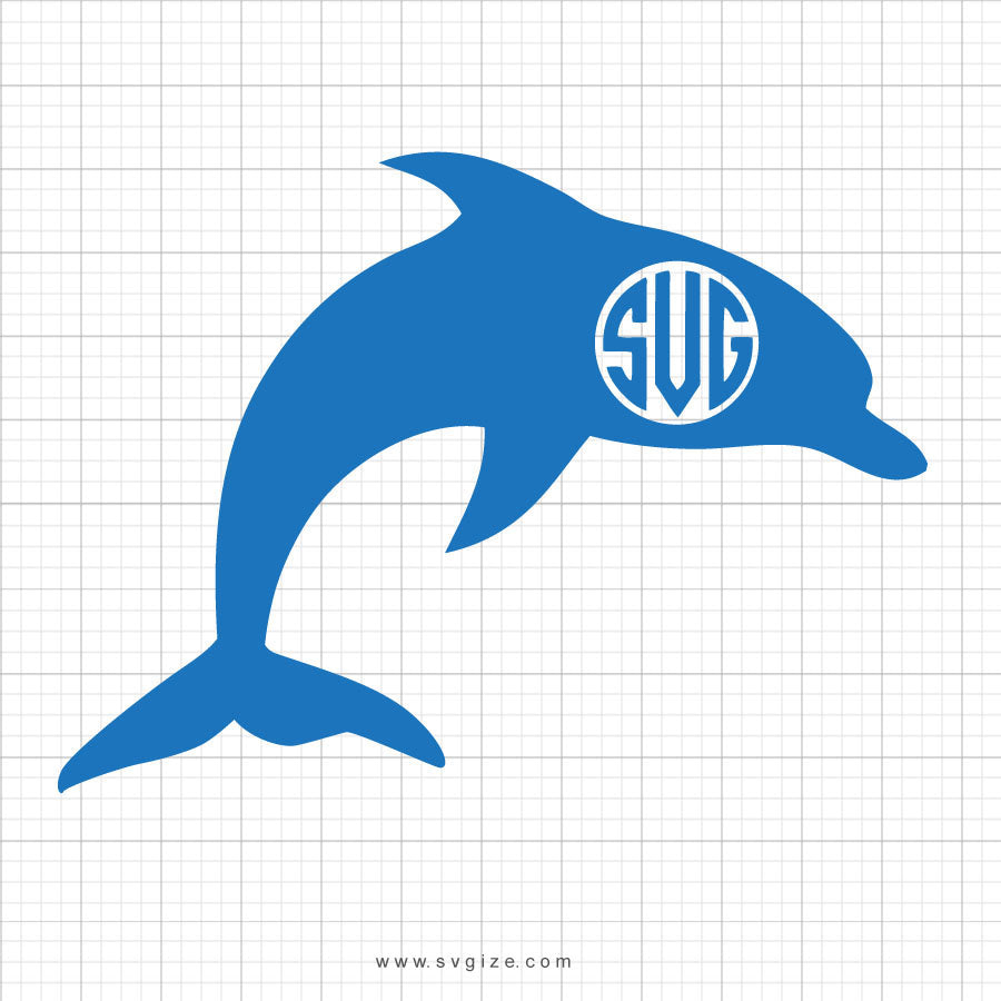 Free Dolphin Monogram SVG Clipart - svgize
