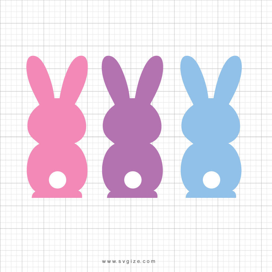 Easter Bunnies Svg Clipart