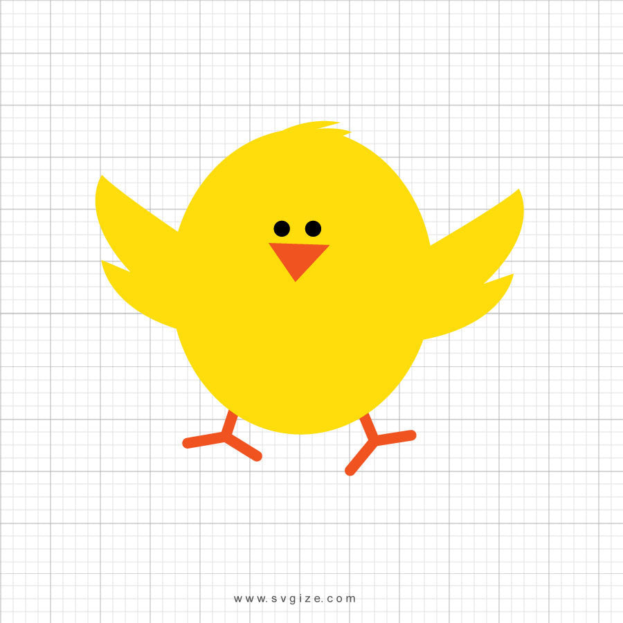 Easter Chick Svg Clipart - SVGize